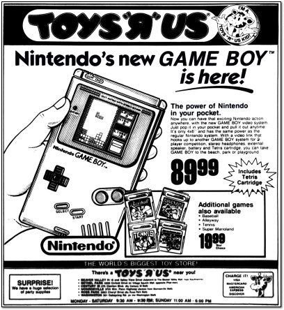 Game Boy Newspaper Ad - 1989
