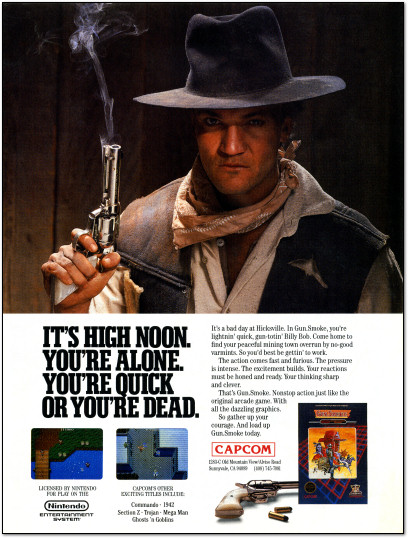 Gun.Smoke Gunsmoke Ad Nintendo Fun Club News - 1988
