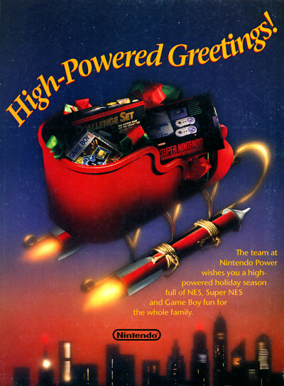High-Powered Greetings Nintendo Power Christmas Ad - 1992
