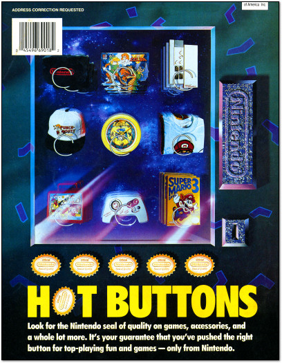 Nintendo Power Hot Buttons Vending Machine Ad - 1991