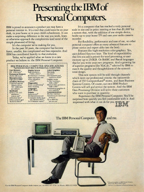 Presenting the IBM of Personal Computers.