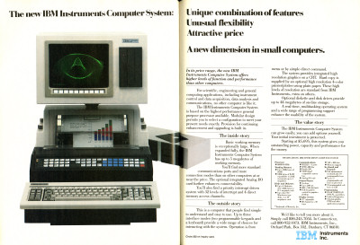 IBM Instruments Computer System advertisement - 1983