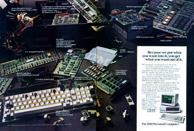 IBM PC 5150 Apart Components Inside Advertisement Scan - 1982