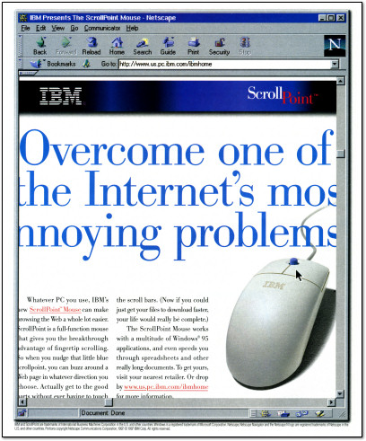 IBM ScrollPoint Mouse Ad - 1997
