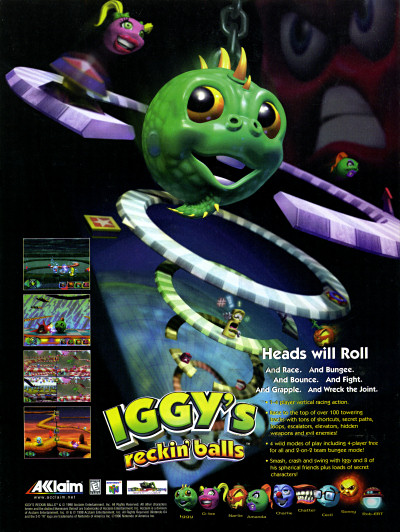 Iggy's Wreckin' Balls for Nintendo 64 N64 Ad - 1998