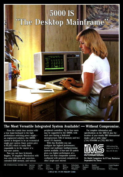 IMS International 5000 IS Desktop Mainframe Advertisement - 1983