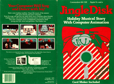 Thoughtware JingleDisk Jingle Disk Animated musical computer christmas card animation artwork Xmas - 1985