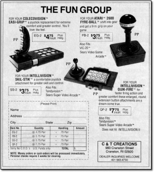 Joystick Add-Ons from The Fun Group