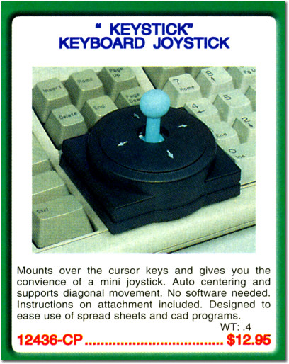 Keystick Keyboard Joystick in Electronics Catalog Ad - 2000