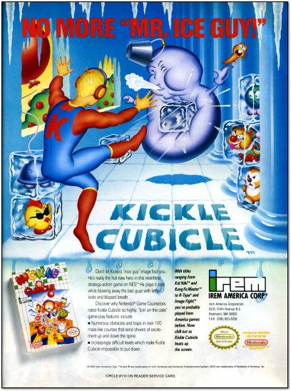Kickle Cubicle NES Ad - 1990