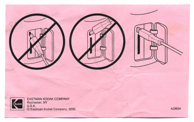 Kodak Scanner USB Instructions Insert Pink 4J3634 - 2005