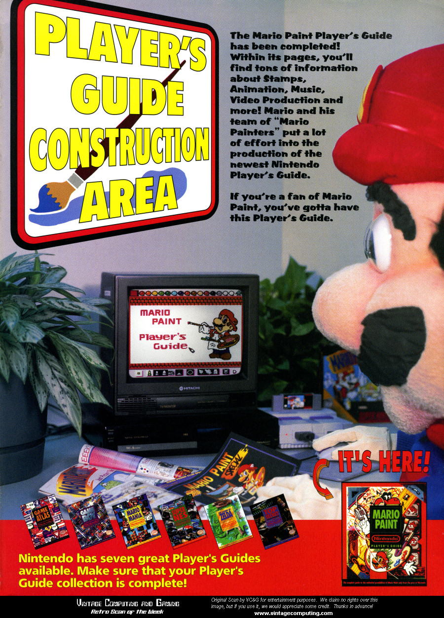 vc g retro scan of the week mario paint player s guide rh vintagecomputing com nintendo power player's guide pdf Nintendo Power Issue 3