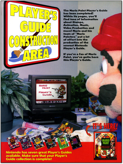Mario Paint Player's Guide Ad Nintendo Power - 1993