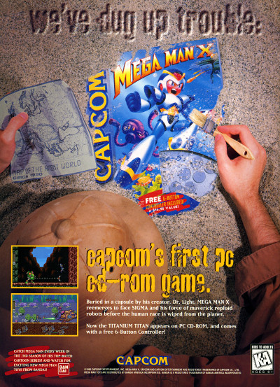 Mega Man X CD-ROM advertisement - 1995