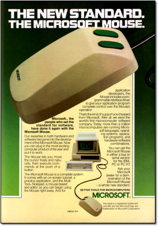 First Microsoft Mouse Advertisement