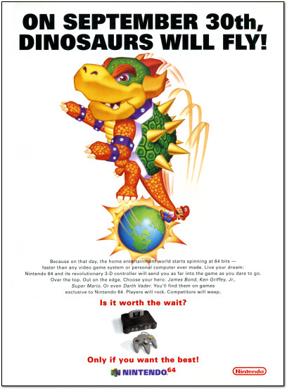 Nintendo 64 Launch Ad - September 30th, 1996