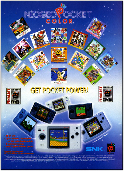 SNK Neo Geo Pocket Color Ad - 2000