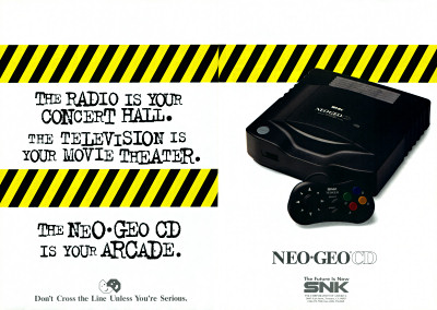 SNK Neo-Geo CD system CD-ROM Arcade advertisement- 1995