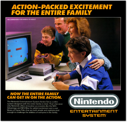 Nintendo Entertainment System NES Action Set Box Family - 1988