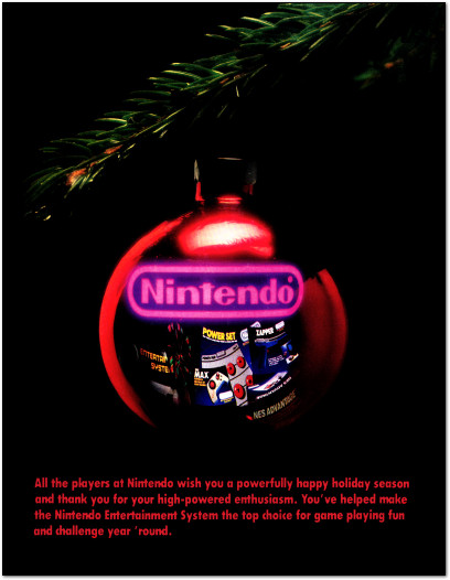 Nintendo Merry Christmas Ornament NES Nintendo Entertainment System Back Cover - 1988