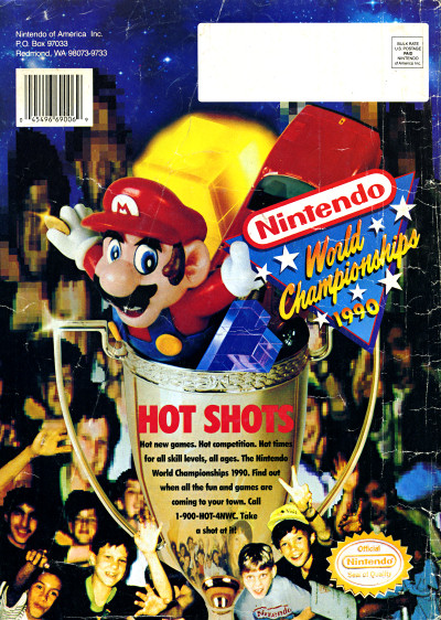 Nintendo Power Nintendo World Championships 1990 Advertisement 1990