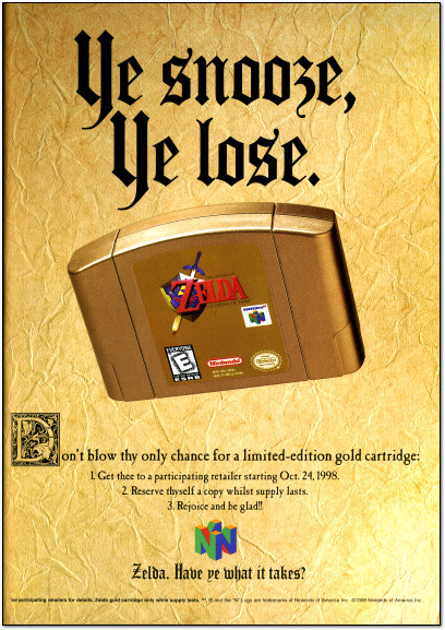 Zelda: Ocarina of Time Ad - 1998
