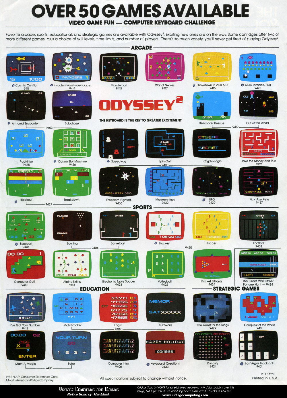 Video Game Girl Stock Image Image Of Latina Isolated: » [ Retro Scan Of The Week ] 46 Odyssey² Games