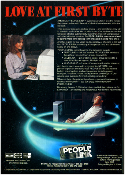 Online Dating Circa 1985 - American People Link Ad