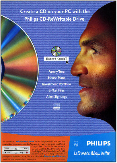 Philips CD-RW Drive Ad - 1997