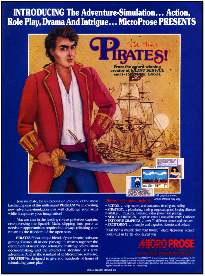 MicroProse Sid Meier's Pirates! Advertisement - 1987