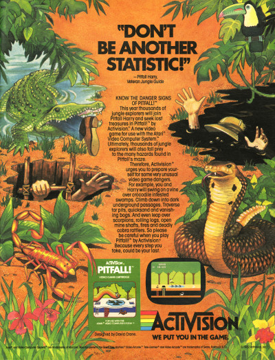 Activision Pitfall! for Atari 2600 LIFE Magazine scan - 1982