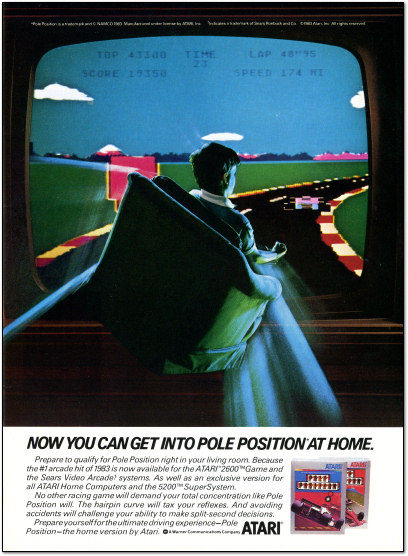 Atari Pole Position Ad 1983