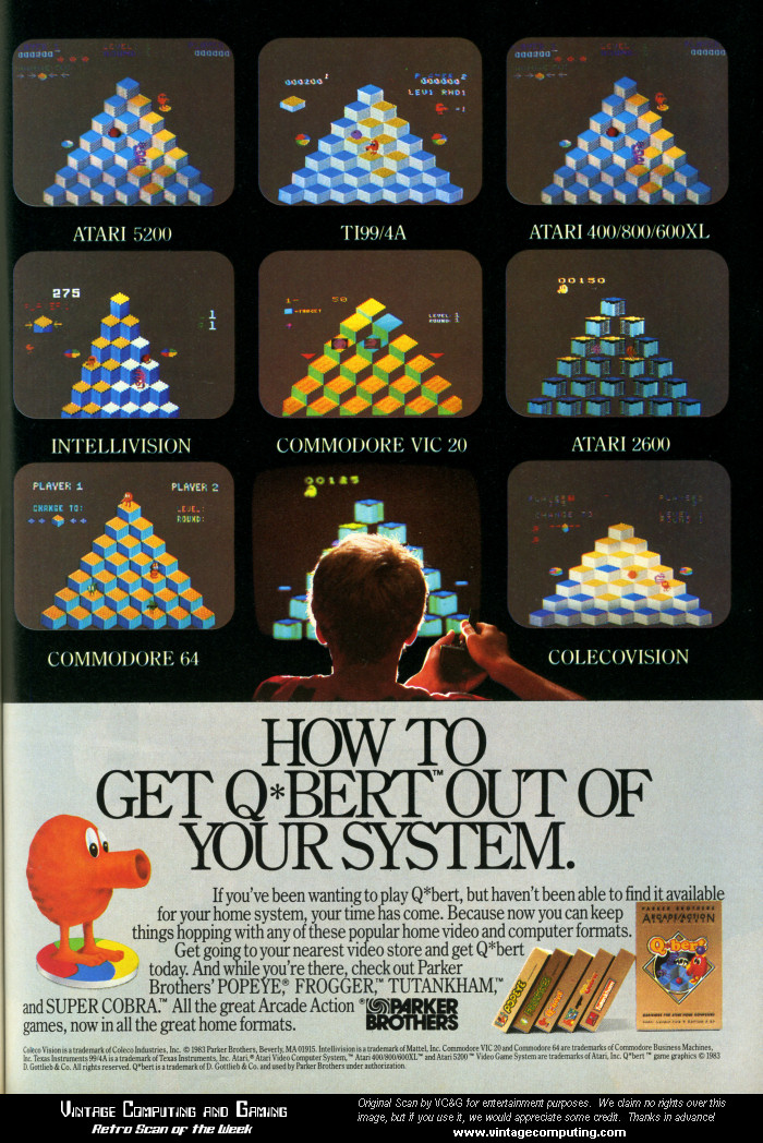 VC&G | [ Retro Scan of the Week ] Eight Ways to Play Q*Bert