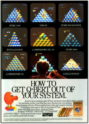 Parker Brothers Q*Bert Advertisement