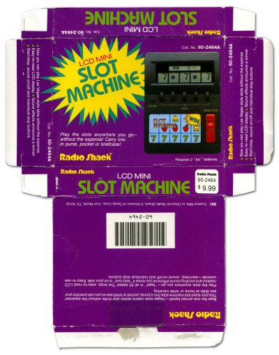 Radio Shack LCD Mini Slot Machine Electronic Game Box (60-2464A) - 1994
