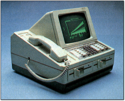 Rolm Cedar Telephone Terminal Computer in BYTE - 1985
