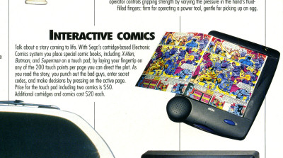 Sega Interactive Comics Sega Electronic Comics Batman Popular Science What's New - April 1995