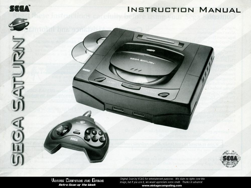 vc g retro scan of the week sega saturn manual cover rh vintagecomputing com Sega Game Gear Sega CD