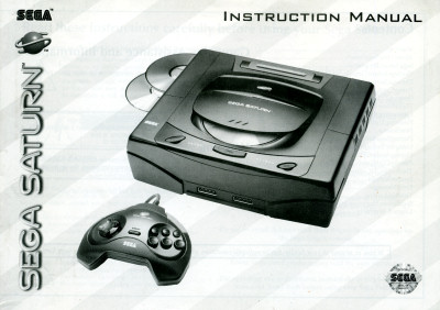 Sega Saturn Instruction Manual Cover - 1995