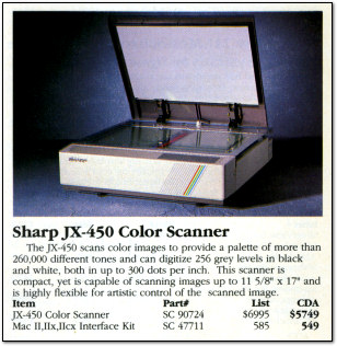 Sharp JX-450 Color Scanner