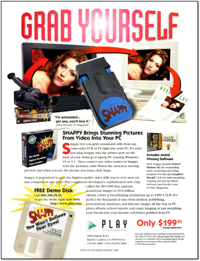 Snappy Video Snapshot Ad - 1995