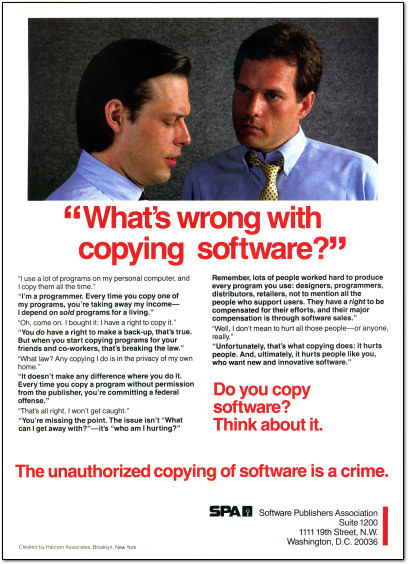 SPA Anti-Software Piracy Ad