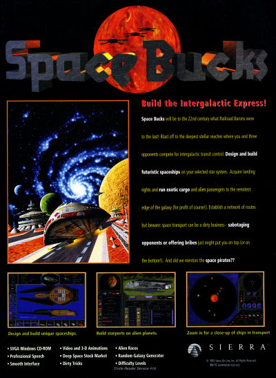 Sierra Space Bucks advertisement - 1995