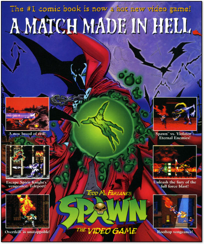 Spawn for Super NES SNES Ad - 1995