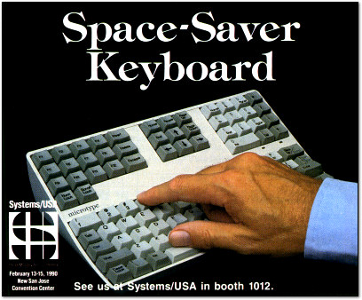 MEI Microtype Space Saver Keyboard Ad - 1990