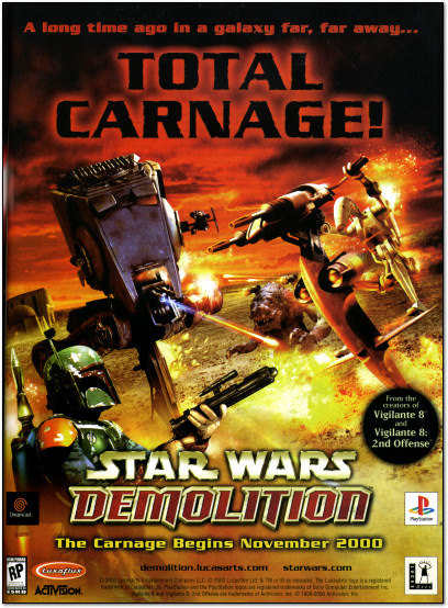 Star Wars Demolition Playstation Dreamcast Ad - 2000