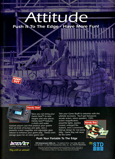 STD Interact Handy Boy Attitude Push it to the Edge Wheelbarrow construction site advertisement - 1994