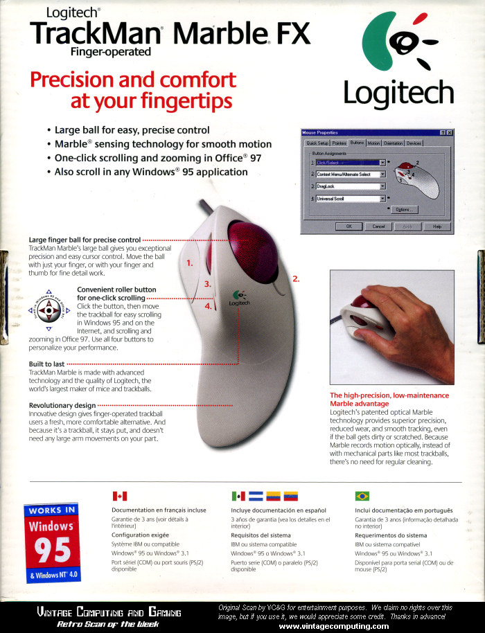 logitech trackman marble fx driver