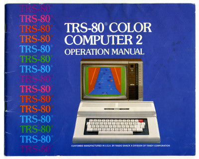 TRS-80 Color Computer Operation Manual Cover - 1983