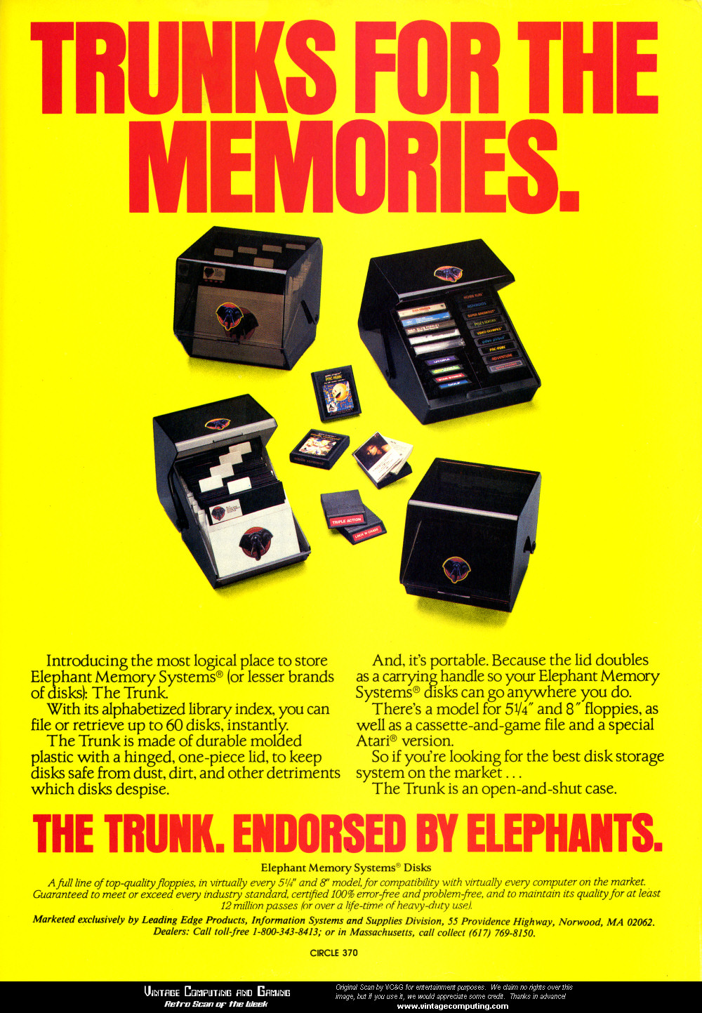 VC&G | » [ Retro Scan of the Week ] A Trunk For Your Disks
